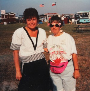 Janet Leigh Davis and Anne Willis at one of the early Texas Crab Festivals. The Festival has come a long way since the early days.